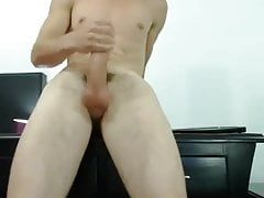 Twink Solo with Big Cock cumshot