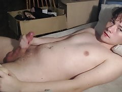 so cute twink jacks his big dick  of before cam