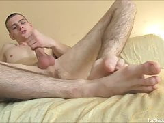 Feet Loving Gay Solo Masturbation