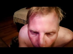 Daddy paints the fucking twink's cumslut face with jizz 2
