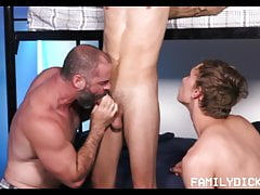 Hot Twink Step Son And His Friend Joined By Bear Step Dad