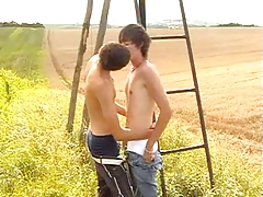 Cute twinks in the field
