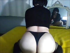 shemale big balls nely big ass tranny self facial