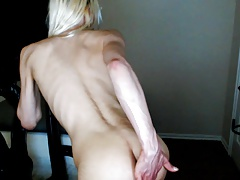 Femboy Twink Plays with his Asshole