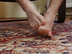 Twink Tim Law Foot Fetish Jerk Off