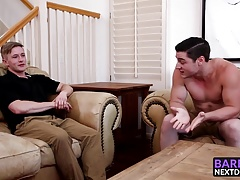 Chris Blades spreads his legs for Clark Campbell big tool