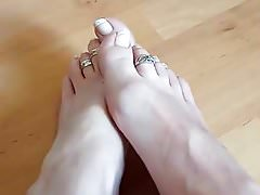 Hot Blonde foot mistress at home!