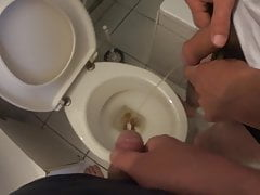 Pissing in the toilet together with my best friend