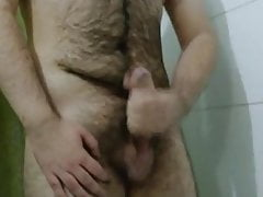 Me Hairy DaddyWithBeard Jerk My Big Fat Cock For Twinks